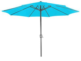 CEMONJARDIN - parasol droit turquoise - Telescopic Parasol