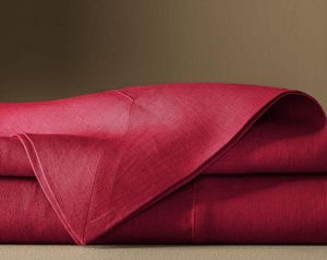 BLANC CERISE - ..delices de lin - Square Tablecloth