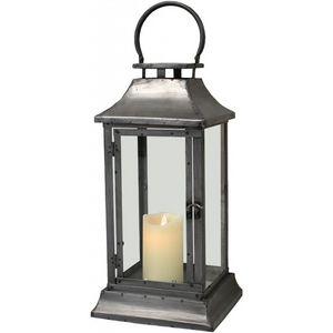 CHEMIN DE CAMPAGNE - lanterne tempête en fer métal 44 cm - Lantern