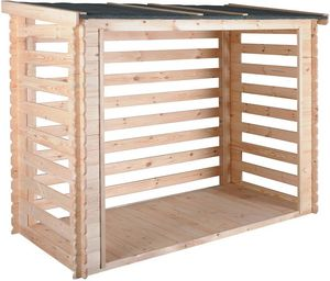 JARDIPOLYS - abri b?ches avec plancher 3,5 stères come - Fire Wood Shed
