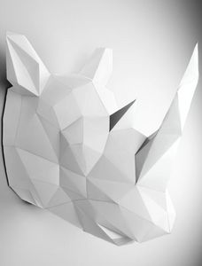 PAPERTROPHY - rhinocéros blanc - Fishing Trophy