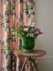GP&J BAKER - bird & iris / blush - Fabric By The Metre