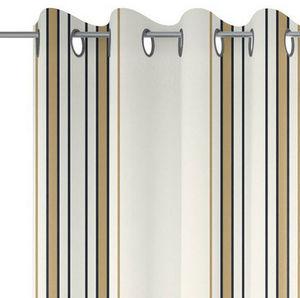 Jean Vier - espelette argile - Eyelet Curtain