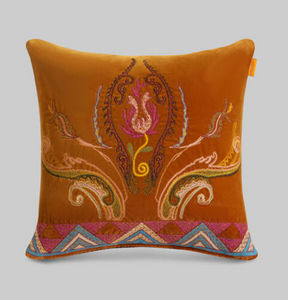 Etro - broderies - Square Cushion