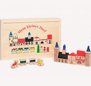 Au Nain Bleu - le petit village - Wooden Toy