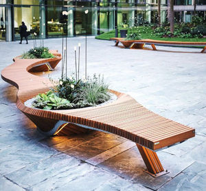 TÔLERIE FOREZIENNE - botanic twist - Town Bench