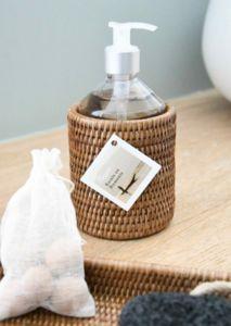 ROTIN ET OSIER - escale rotin miel - Soap Dispenser