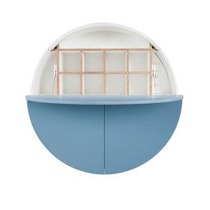 EMKO - pill - bureau mural bleu / blanc 30.5 x ø 110 cm - Suspended Office