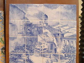 Ceramiques du Beaujolais - azulejos carrelage émaillé village - Ceramic Tile
