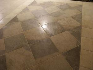 Occitanie Pierres - damier auberoche sable et gris - Stone Tile