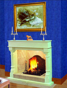 Jean Magnan Cheminees - style magnan - Open Fireplace