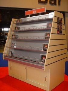 Retail Intertainment Displays (red) -  - Shelving Unit