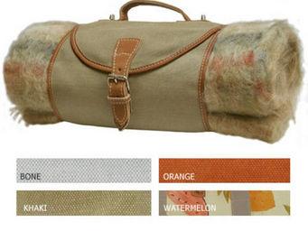 Hidden Cabin - blanket carrier - canvas - Picnic Blanket