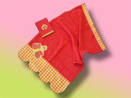CréaFlo - serviette enfant papillon 3 ans et + - Children's Bath Towel