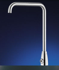 Electronic basin mixer tap