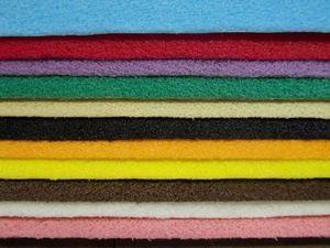 FEUTRINE- VELOURS - décovelle - au rouleau ou en pochettes - Foam Craft Paper