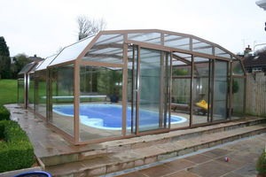 Telescopic Pool Enclosures - diabolo - High Telescopic Pool Cover
