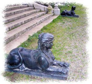 Esprit Antique - sphinge - Animal Sculpture