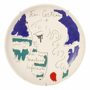 SYLVIA POWELL DECORATIVE ARTS - la machine infernale - Decorative Platter
