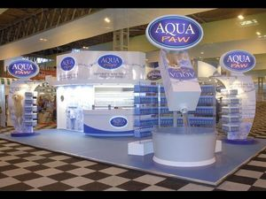 Quattro Display - aqua paw - Booth