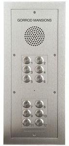 Nacd - tvtel 12 push-button flush-flanged panel - Intercom
