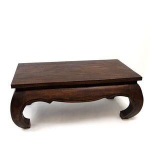 DECO PRIVE - table basse opium 50 x 100 cm en bois massif - Rectangular Coffee Table