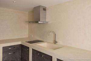 Rouviere Collection - plan de travail en béton ciré - Waxed Concrete For Wall