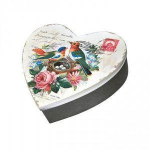 Demeure et Jardin - boite gigogne rétro en forme de coeur - Decorated Box