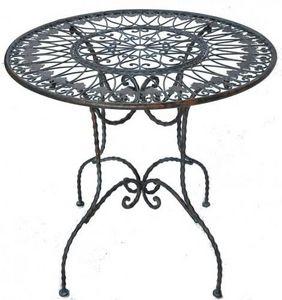 Demeure et Jardin - gueridon en fer forgé patine vert de gris - Pedestal Table