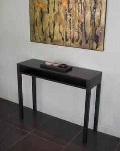 Mathi Design - console acier metallica - Console Table