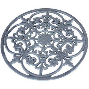 CHEMIN DE CAMPAGNE - grand dessous de plat repose plat en fonte ø 29.5  - Plate Coaster