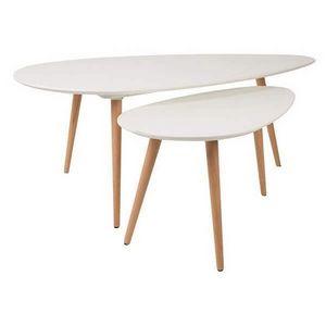 Mathi Design - lot de 2 tables suede - Nest Of Tables