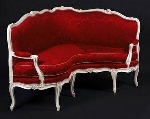 Aveline - paire de canapés d'angle louis xv - Corner Sofa