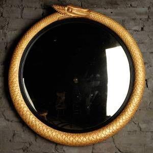 The English House - serpent - Porthole Mirror