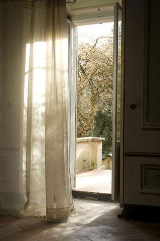 il lino, le tende - lino unito - Knotted curtain - Linen ...