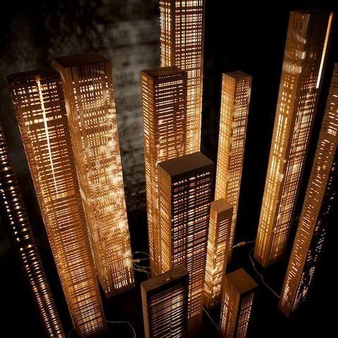 Cécile Mairet - Illuminated column-Cécile Mairet-lampe en bois