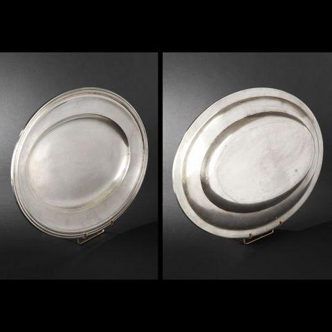 Expertissim - Side platter-Expertissim-Plat et corbeille en métal argenté