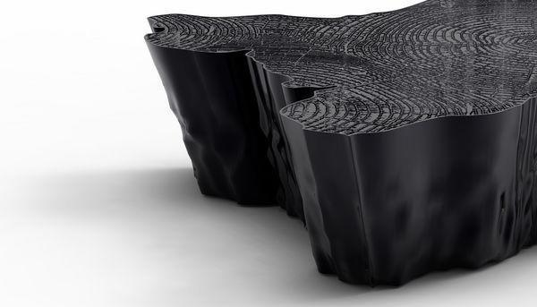 BOCA DO LOBO - Original form Coffee table-BOCA DO LOBO-Eden Black