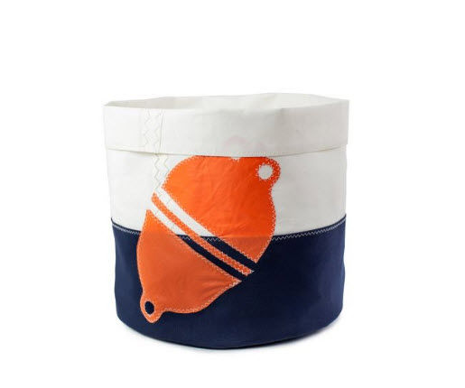 727 SAILBAGS - Wastepaper basket-727 SAILBAGS-Flottille orange