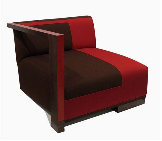 Cécile Mairet - Low armchair-Cécile Mairet-K-ré rouge et brun