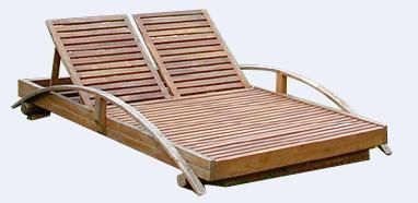 MEMOIRE DES ORIGINES - Double Sun lounger-MEMOIRE DES ORIGINES-Sunbed