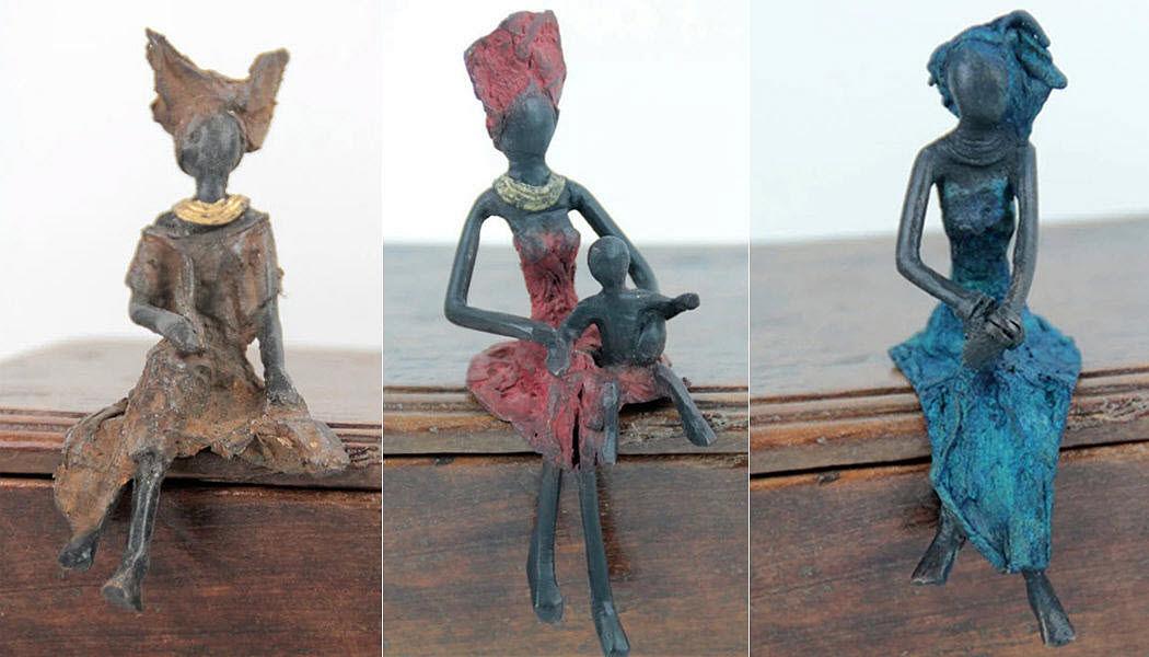 Bronzes d'Afrique Kleine Statue Verschiedene Ziergegenstände Dekorative Gegenstände  |