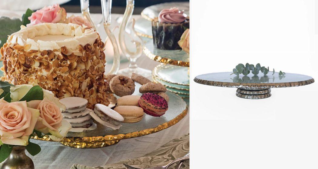 Annieglass Kuchenform Platten Geschirr  |