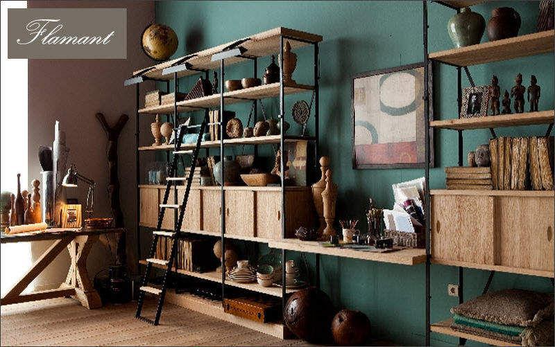 Flamant Offene-Bibliothek Bücherregale Regale & Schränke Wohnzimmer-Bar | Exotisch