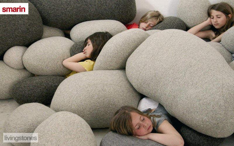 Smarin Bodenkissen Schemel und Beinauflage Sitze & Sofas Kinderzimmer | Unkonventionell