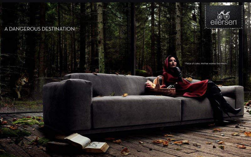 Eilersen Sofa 3-Sitzer Sofas Sitze & Sofas Wohnzimmer-Bar   Design Modern