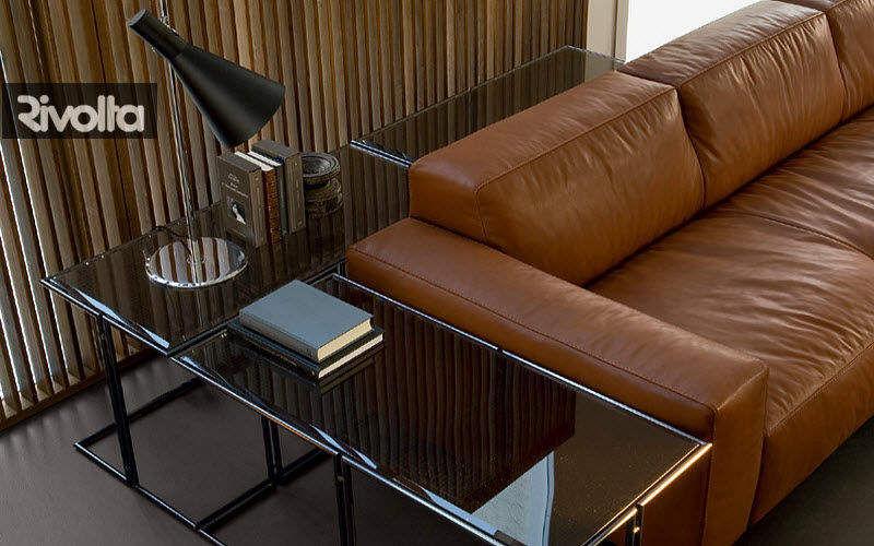 RIVOLTA Sofarückwand Beistelltisch Tisch Wohnzimmer-Bar | Design Modern