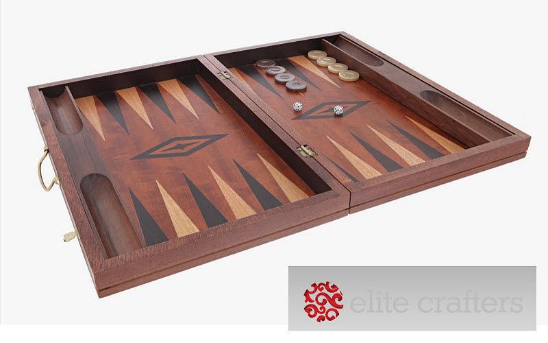 ELITE CRAFTERS Backgammon Gesellschaftsspiele Spiele & Spielzeuge  |
