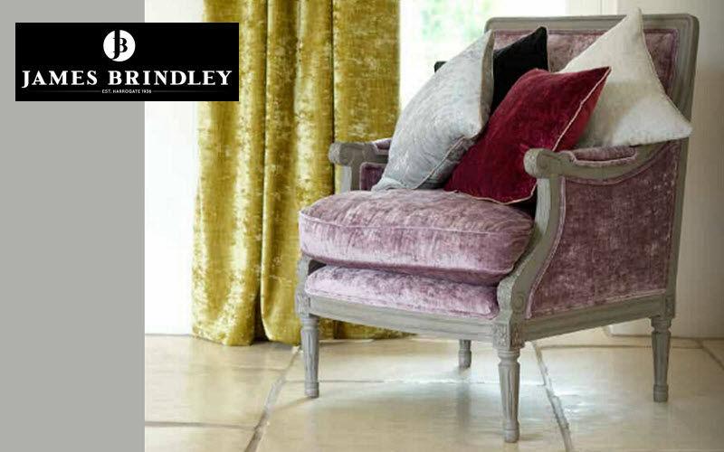 James Brindley Velours Möbelstoffe Stoffe & Vorhänge  |