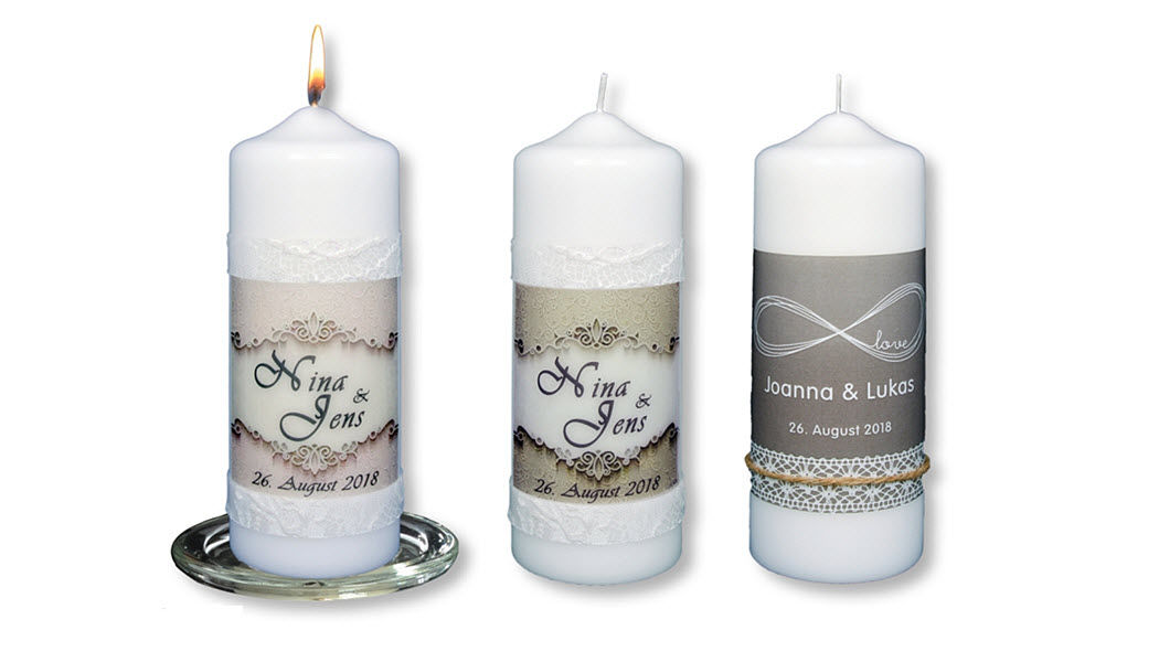 FLÜGEL Personalisierbare Kerze Kerzen und Kerzenständer Dekorative Gegenstände  |